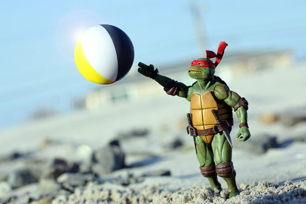 NECA Raphael TMNT beachball