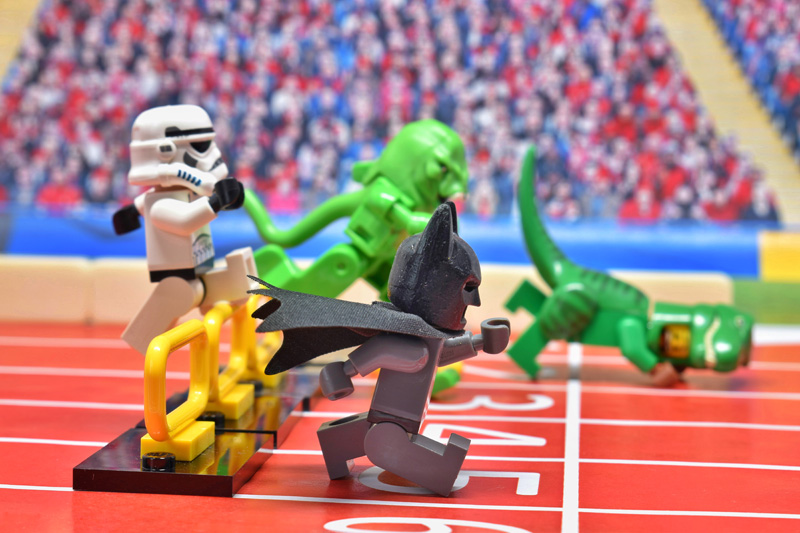Toy Summer Olympics 2 6IN - day 14 - 110m hurdle - Tao Liao