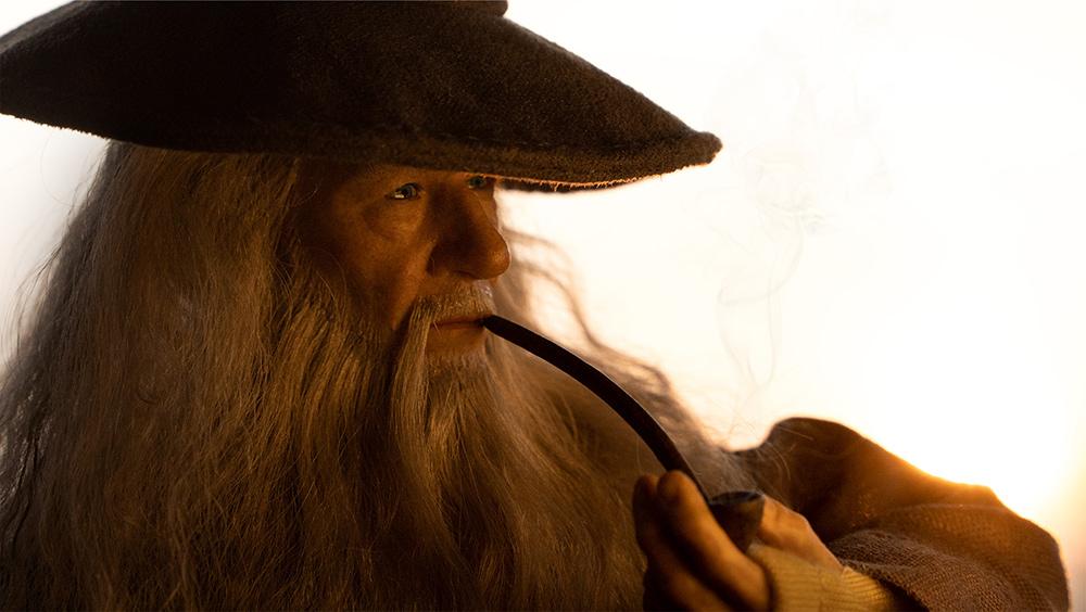 Gandalf smoking his pipe