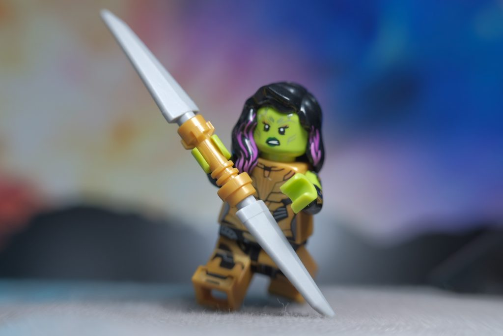 Gamora with Thanos' Spear- The Perry Lego Adventures