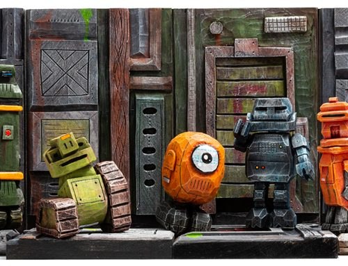 Hobby vs. Hobby: Hand-Carved Robots for Toy Photography