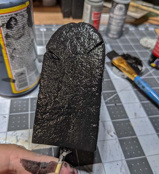 Tombstone: black layer