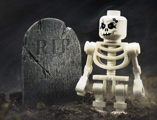 Making a Tombstone Prop for LEGO & 6-Inch Scale