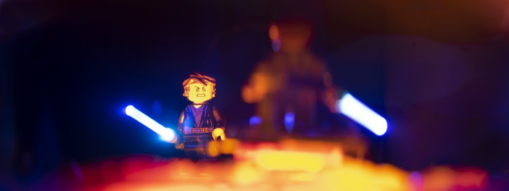If you're not with me, you're my enemy. Toy photography by Tom Milton as part of the post Welcome to Mustafar: Diorama Building with Jelly
