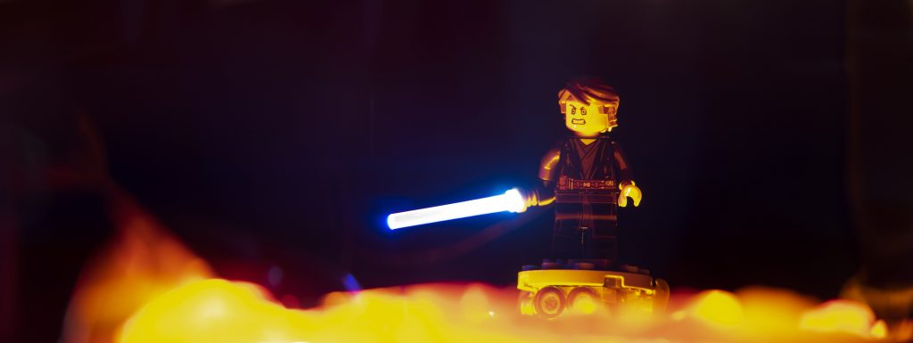 From my point of view, the Jedi are evil. Toy photography by Tom Milton as part of the post Welcome to Mustafar: Diorama Building with Jelly