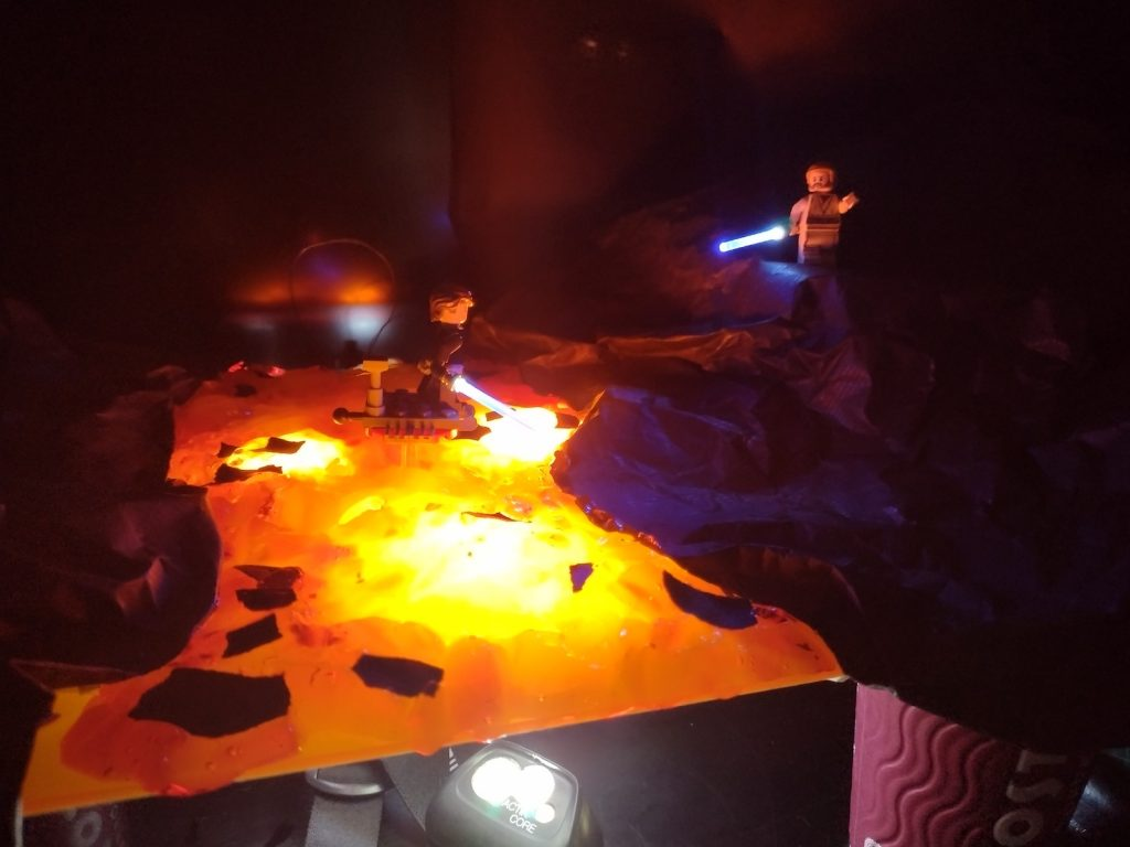 BTS of Toy photography by Tom Milton as part of the post Welcome to Mustafar: Diorama Building with Jelly
